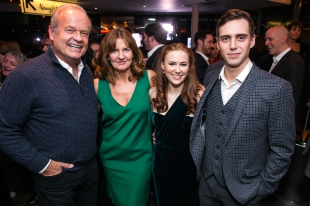 <p>Kelsey Grammer (Edward Bloom), Clare Burt (Sandra Bloom) and Laura Baldwin (Story Sandra) and Jamie Muscato (Story Edward)</p><br />© Dan Wooller for WhatsOnStage