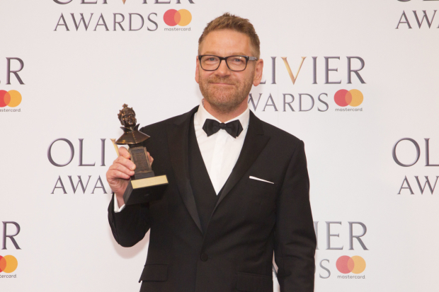 <p>Kenneth Branagh with the Special Award</p><br />© Dan Wooller for WhatsOnStage