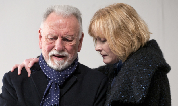 <p>Kenneth Cranham and Claire Skinner in <em>The Father</em></p><br />(© Simon Annand)