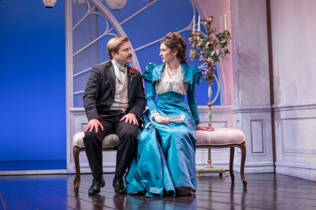 <p>Kevin Bishop and Grace Molony in  <em>Lady Windermere&#39&#x3B;s Fan</em> </p>