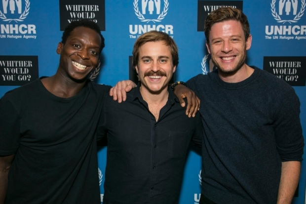 <p>Kobna Holdbrook-Smith, Kevin Bishop and James Norton</p><br />© Dan Wooller for WhatsOnStage
