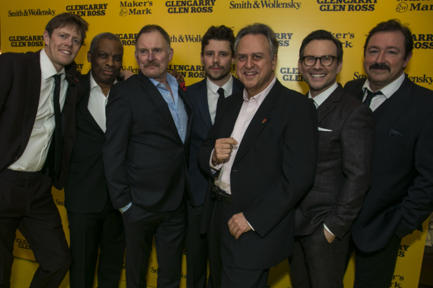 <p>Kris Marshall, Don Warrington, Robert Glenister, Sam Yates, Stanley Townsend, Christian Slater and Daniel Ryan.</p><br />© Dan Wooller for WhatsOnStage