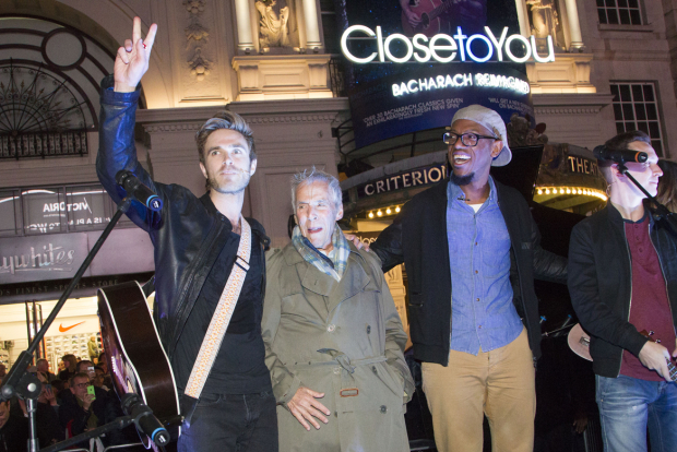 <p>Kyle Riabko, Burt Bacharach and James Williams (cast) </p><br />© Dan Wooller for WhatsOnStage