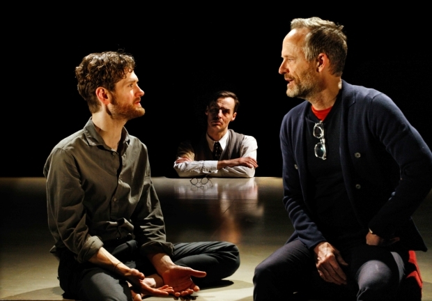 <p>Kyle Soller, Paul Hilton and John Benjamin Hickey  in <em>The Inheritance</em></p><br />© Simon Annand