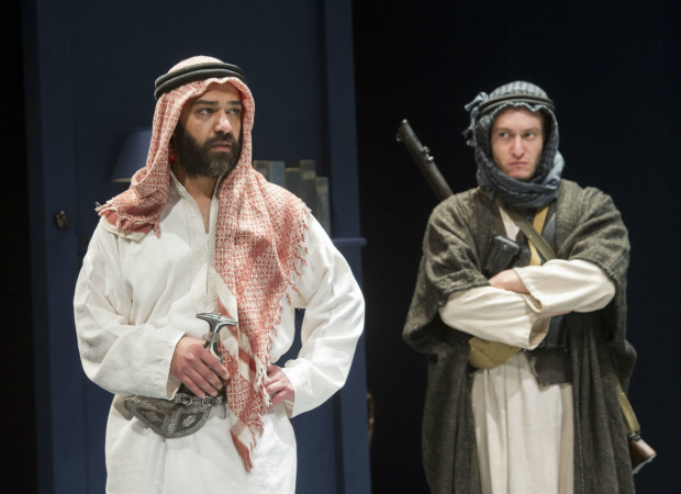 <p>(L) Khalid Laith (Prince Feisal) in <em>Lawrence After Arabia</em></p><br />© Alastair Muir