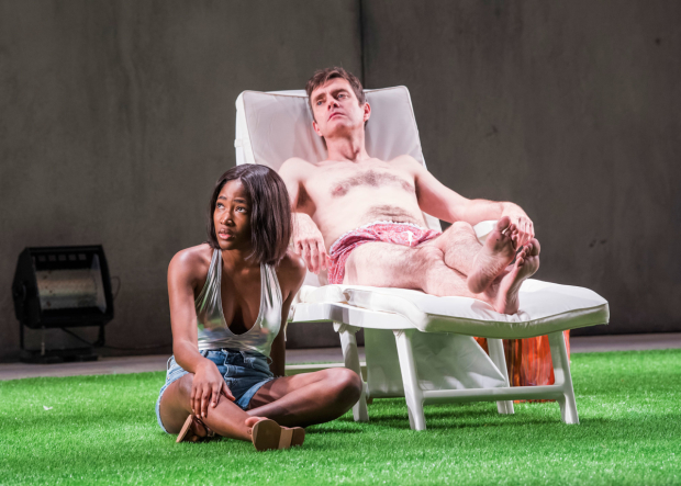 <p>L-R, Adelayo Adedayo (Nina) and Paul Higgins (Hugo)</p><br />©Tristram Kenton