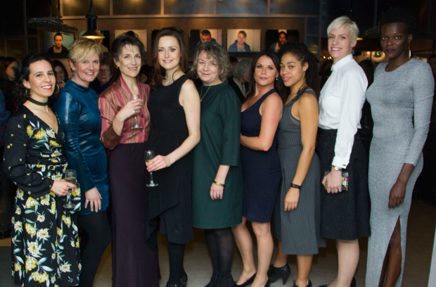 <p>(l-r) cast members Carolina Valdes, Jackie Clune, Harriet Walter, Clare Dunne, Sophie Stanton,  Sarah-Jane Dent, Rhiannon Harper-Rafferty, Liv Spencer and Sheila Atim</p><br />©  Dan Wooller for WhatsOnStage, 2016