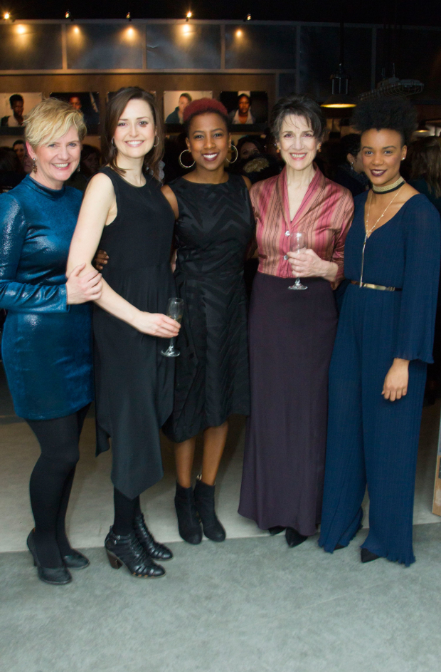 <p>(l-r) cast members Jackie Clune, Claire Dunne, Jade Anouka, Harriet Walter, Leah Harvey</p><br />© Dan Wooller for WhatsOnStagecast, 2016