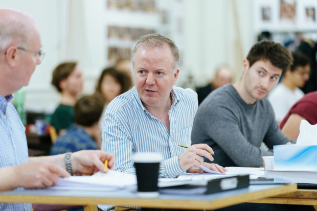 <p>l-r Christopher Luscombe (Director) and Matthew Dann (Assistant Director) in rehearsals for <em>Twelfth Night</em></p><br />© RSC/ Manuel Harlan