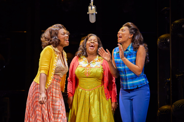 <p>(l-r) Ibinabo Jack, Amber Riley and Liisi LaFontaine in <em>Dreamgirls</em></p><br />© Brinkhoff - Moegenburg