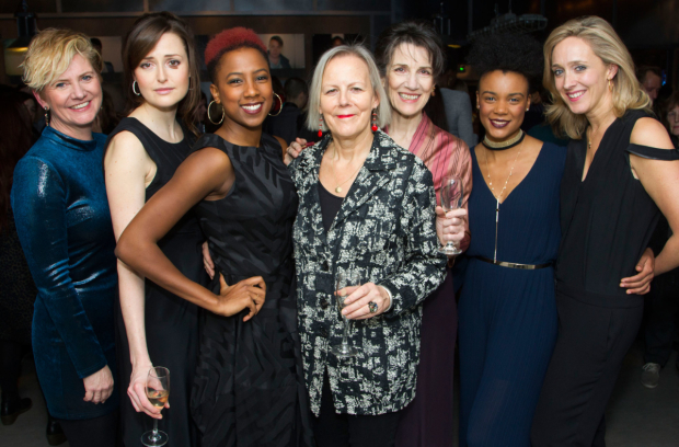 <p>(l-r) Jackie Clune, Claire Dunne, Jade Anouka, director Phyllida Lloyd, Harriet Walter, Leah Harvey, Donmar executive producer Kate Pakenham</p><br />© Dan Wooller for WhatsOnStage, 2016