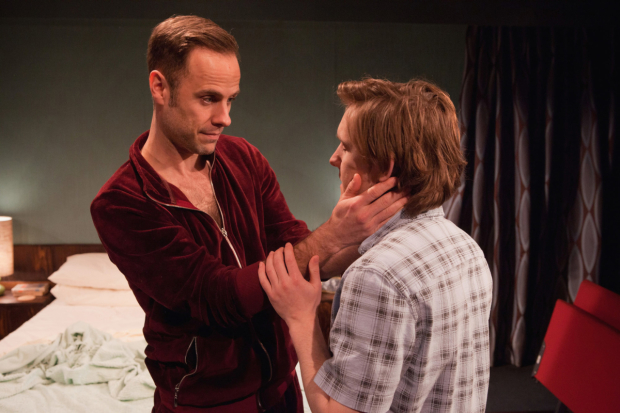 <p>L-R Jay Taylor (Robert) and Oliver Coopersmith (Alan) in <em>46 Beacon</em> </p><br />© Pete Le May