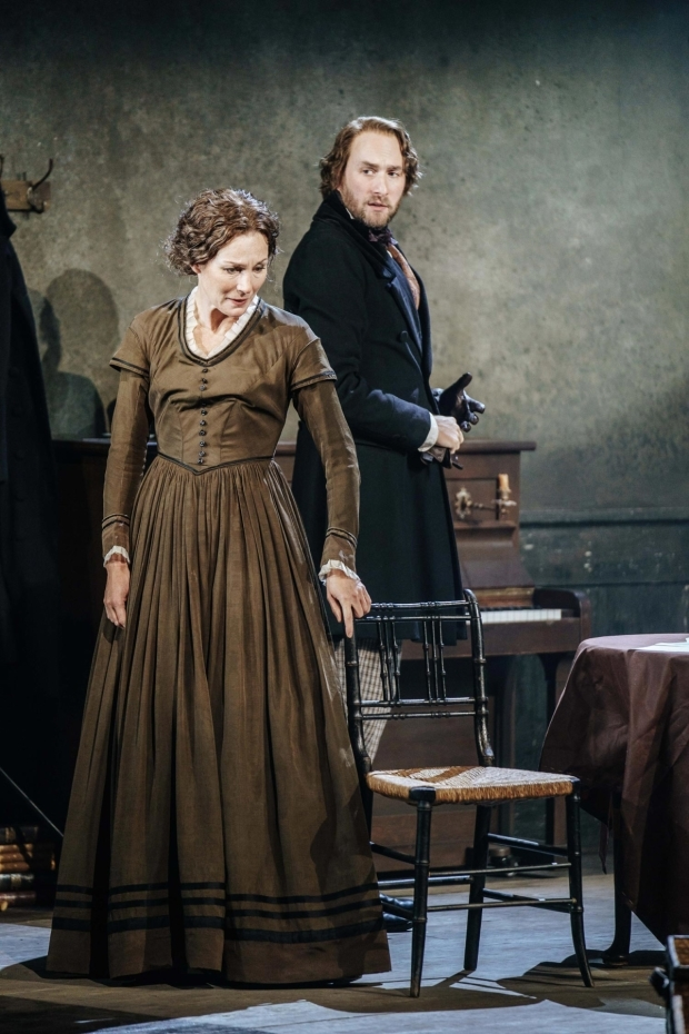 <p>l-r Nancy Carroll (Jenny von Westphalen), Oliver Chris (Friedrich Engels) in <em>Young Marx</em></p><br />© Manuel Harlan