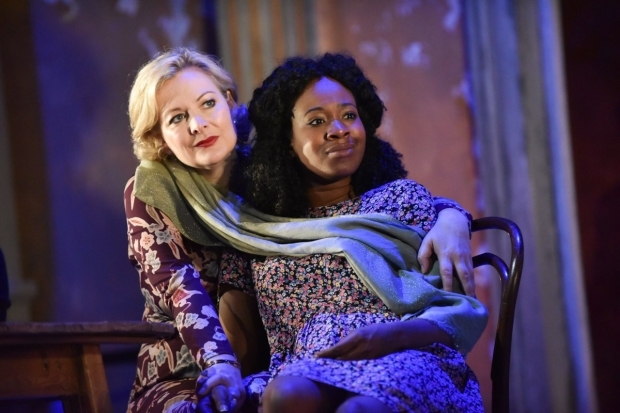 <p>(L-R) Sara Stewart and Evlyne Oyedokun  in <em>The Cherry Orchard</em></p><br />© Robert Day