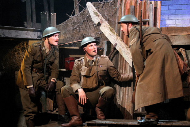 <p>L to r George Kemp, James Dutton, Dan Tetsell in <em>The Wipers Times</em></p><br />© Philip Tull