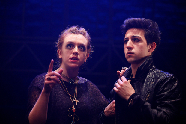 <p>L to R Rebecca Lee (Friar Laurence), Stuart Wilde (Romeo)  in <em>Romeo &amp&#x3B; Juliet</em></p><br />© Philip Tull
