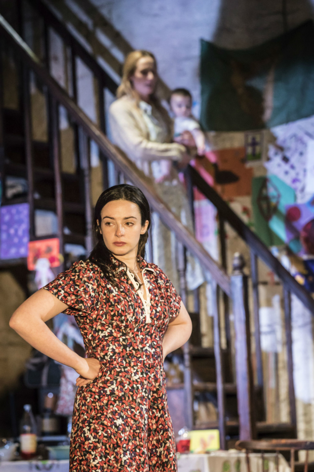 <p>Laura Donnelly (Caitlin Carney) and Genevieve O'Reilly (Mary Carney) in <em>The Ferryman</em></p><br />(c) Johan Persson