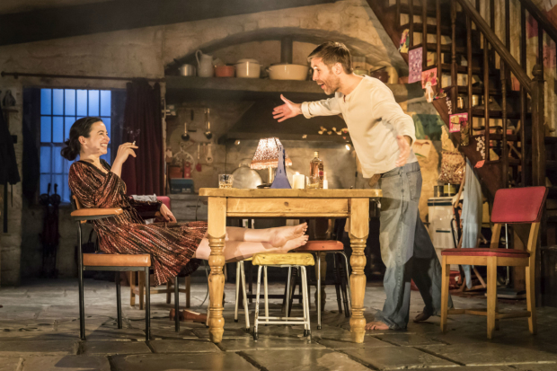 <p>Laura Donnelly (Caitlin Carney) and Paddy Considine (Quinn Carney) in <em>The Ferryman</em></p><br />(c) Johan Persson