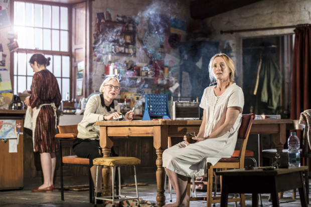 <p>Laura Donnelly (Caitlin Carney), Dearbhla Molloy (Aunt Patricia Carney) and Genevieve O'Reilly (Mary Carney) in <em>The Ferryman</em></p><br />(c) Johan Persson