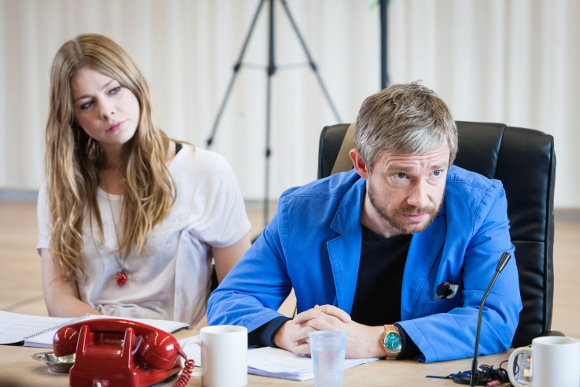 <p>Lauren O&#39&#x3B;Neil and Martin Freeman</p><br />© Marc Brenner