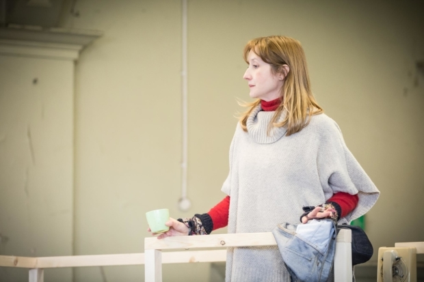 <p>Lauren Ward (Rose Stopnick Gellman) in rehearsal for<em> Caroline, or Change</em></p><br />© Marc Brenner