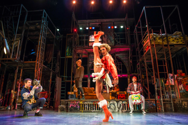 <p>Layton Williams as Angel  in the UK tour of <em>Rent</em></p><br />© Matt Crockett