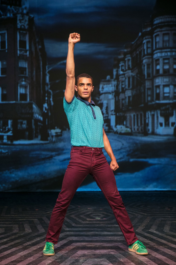 <p>Layton Williams as Seaweed in <em>Hairspray</em></p><br />© Darren Bell
