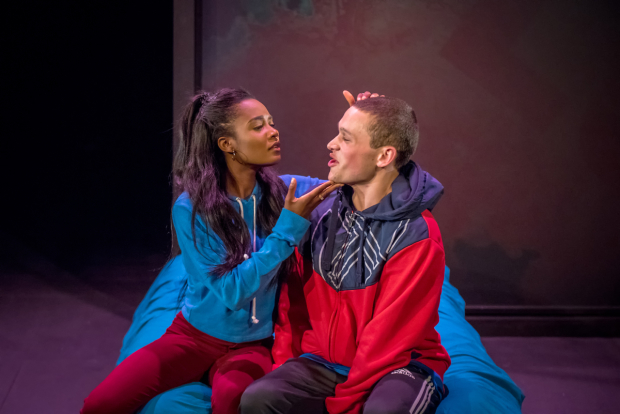 <p>Leah Walker as Darcy and Archie Rush as Mack  in  <em>Ode to Leeds</em></p>