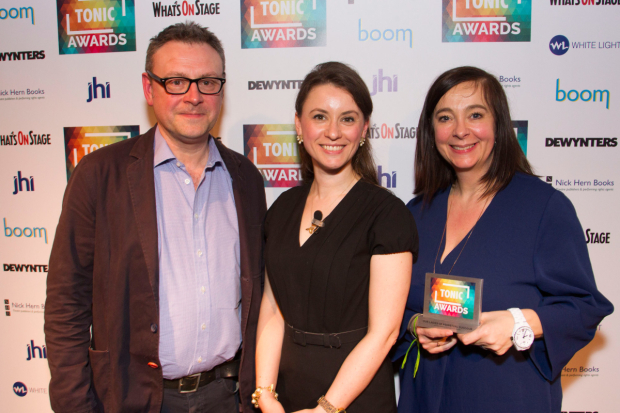 <p>Lee Hall, Lucy Kerbel and Vicky Featherstone</p><br />© Dan Wooller for WhatsOnStage
