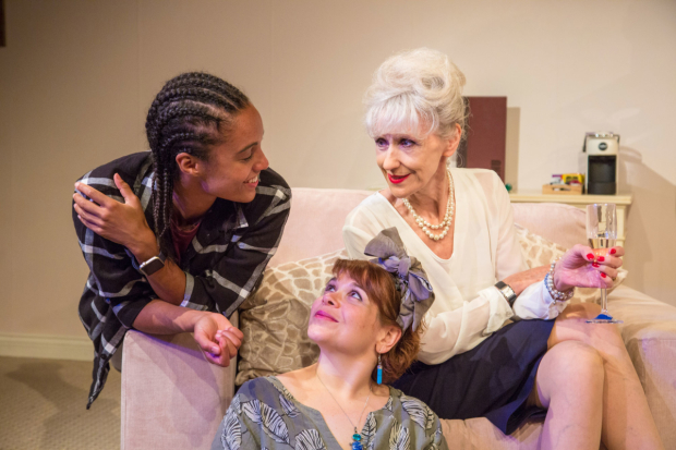 <p>Left to right   Maisie Richardson-Sellers (Laurie), Debbie Chazen (Suzanne) and Anita Dobson (Eleanor) in <em>3Women</em> </p><br />© Charlie JH Round-Turner