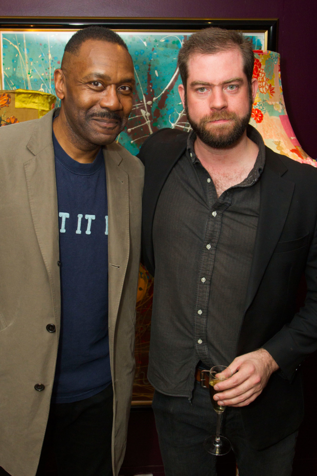 <p>Lenny Henry (Arturo Ui) and Simon Evans (director)</p><br />© Dan Wooller for WhatsOnStage