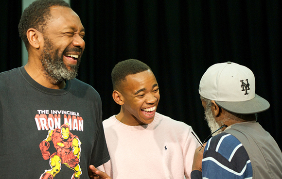 <p>Lenny Henry, Joivan Wade and Larrington Walker</p><br />© Elliott Franks