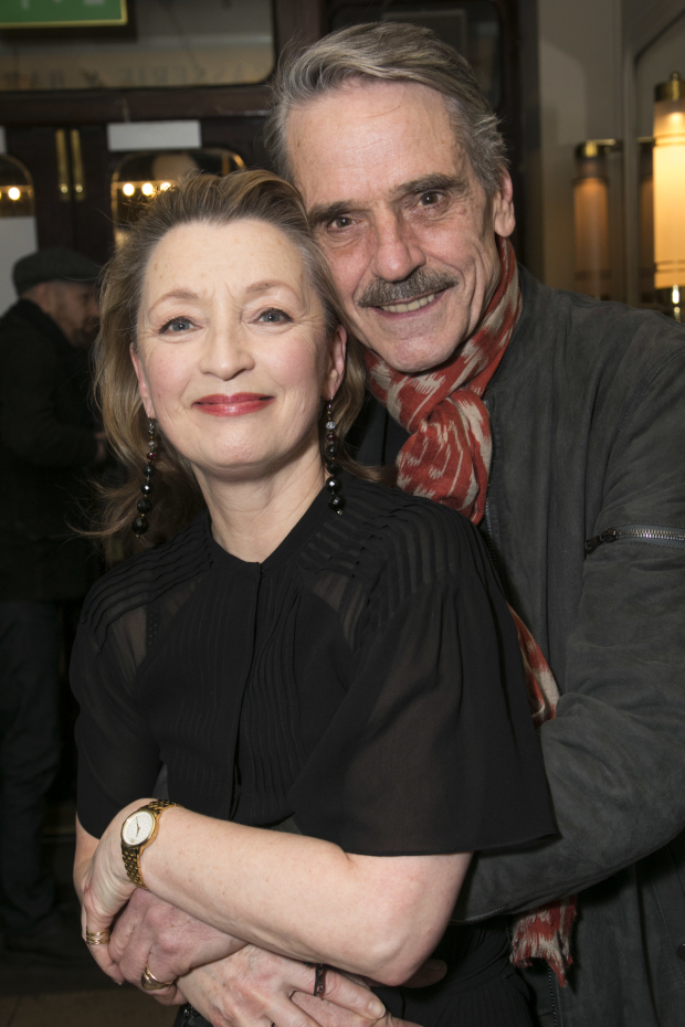 <p>Lesley Manville and Jeremy Irons</p><br />© Dan Wooller for WhatsOnStage