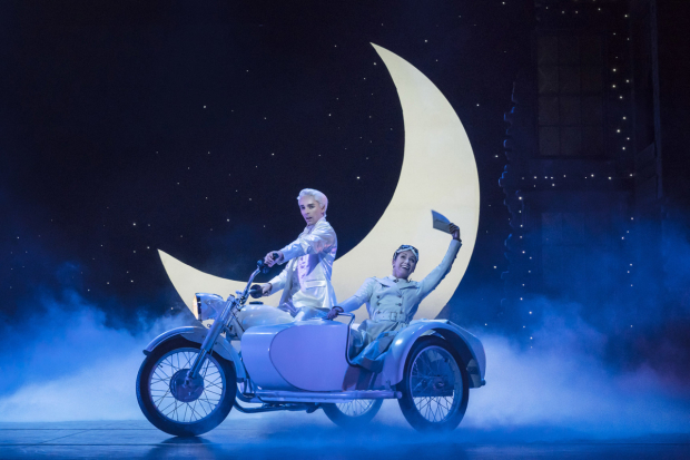 <p>Liam Mower as The Angel – Cinderella&#39&#x3B;s Fairy Godfather and Ashley Shaw as Cinderella</p><br />© Johan Persson