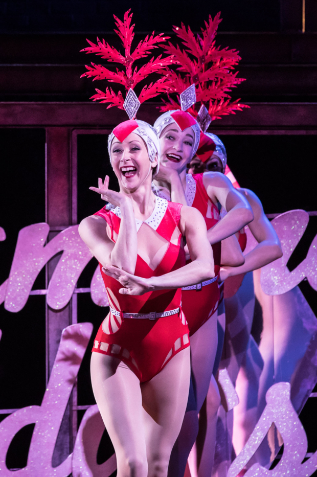 <p>Lisa Ritchie, Lavinia Fitzpatrick and Melissa Nettleford in <em>On the Town</em></p><br />© Johan Persson
