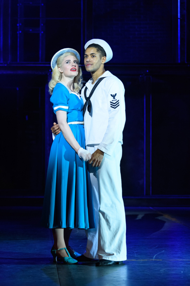 <p>Lizzy Connolly and Jacob Maynard as Hildy and Chip in <em>On the Town</em></p><br />© Jane Hobson
