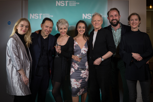 <p>Lorna Fitzgerald, Daniel York, Anita Dobson, Shala Nyx, Hilton McRae, Samuel Hodges (director) and Catherine Cusack</p><br />© Upix Photography