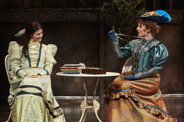 <p>Louise Coulthard as Cecily and Kerry Ellis as Gwendolen</p><br />© The Other Richard