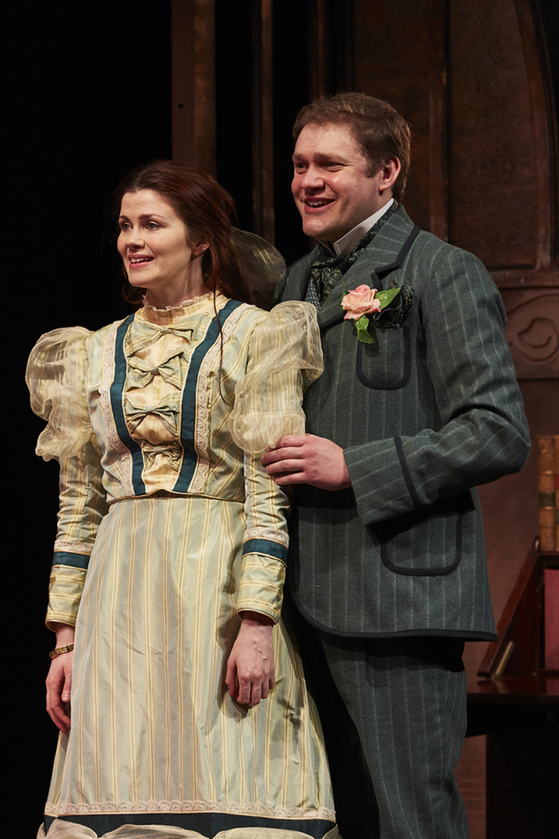 <p>Louise Coulthard as Cecily and Thomas Howes as Algernon</p><br />© The Other Richard