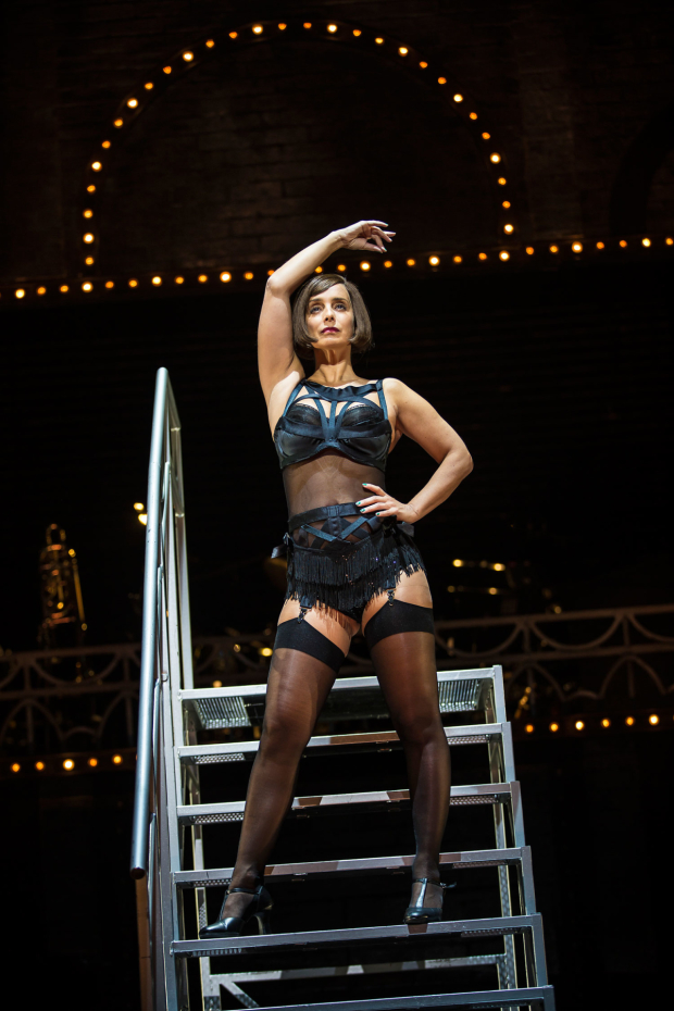 <p>Louise Redknapp in <em>Cabaret</em></p><br />© Pamela Raith