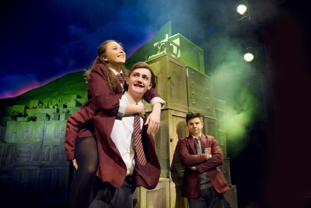 <p>LtoR Chloe May Jackson as Jenny, Ben Hunter as Danny and Josh Benson as Tommo  in <em>The Girls</em></p><br />© Matt Crockett, Dewynters