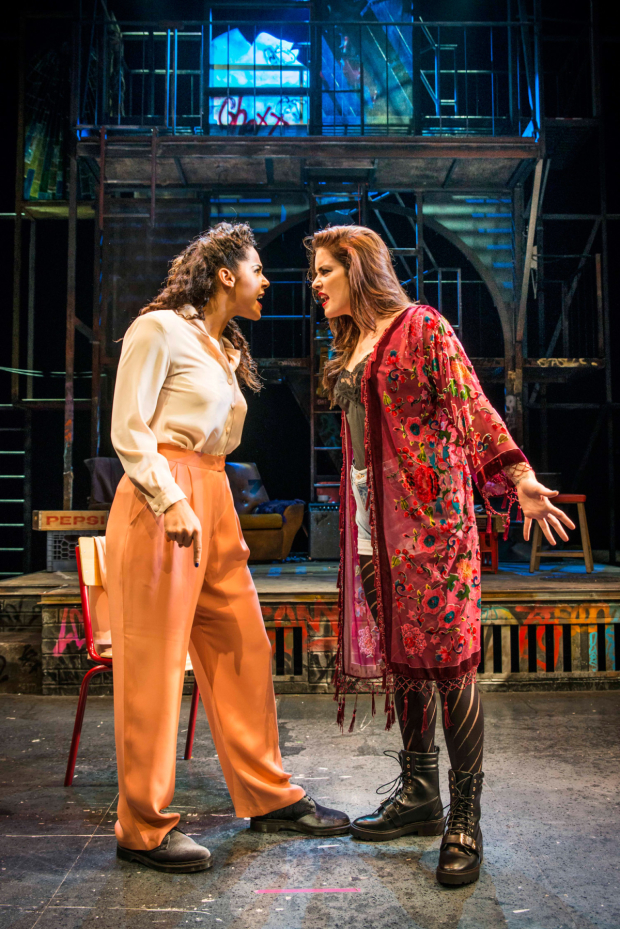 <p>LtoR Shanay Holmes as Joanne and Lucie Jones as Maureen in the UK tour of <em>Rent</em></p><br />© Matt Crockett