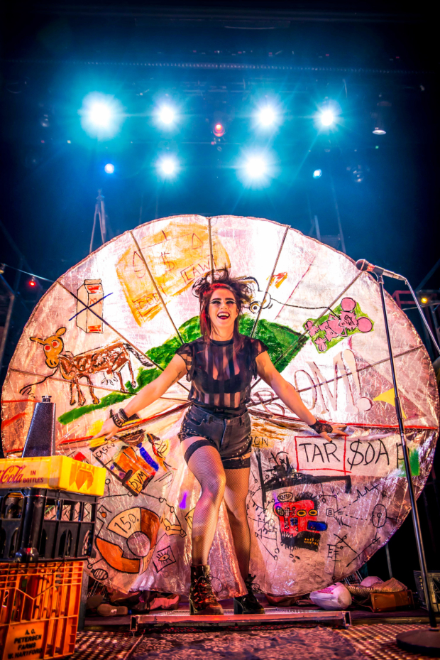 <p>Lucie Jones as Maureen in the  in the UK tour of <em>Rent</em></p><br />© Matt Crockett