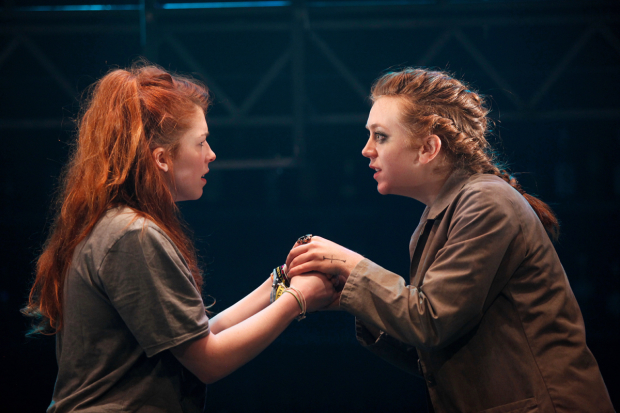 <p>Lucy Keirl (Juliet), Rebecca Lee (Friar Laurence)  in <em>Romeo &amp&#x3B; Juliet</em></p><br />© Philip Tull