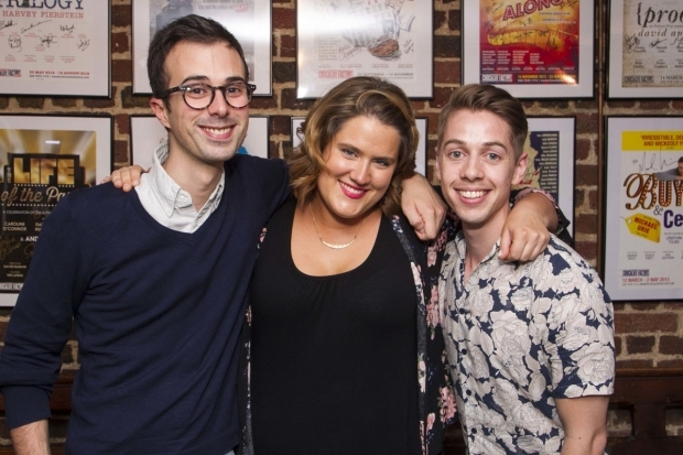 <p>Luke Sheppard (director), Pippa Cleary (music/lyrics) and Jake Brunger (author/lyrics)</p><br />©Dan Wooller for WhatsOnStage