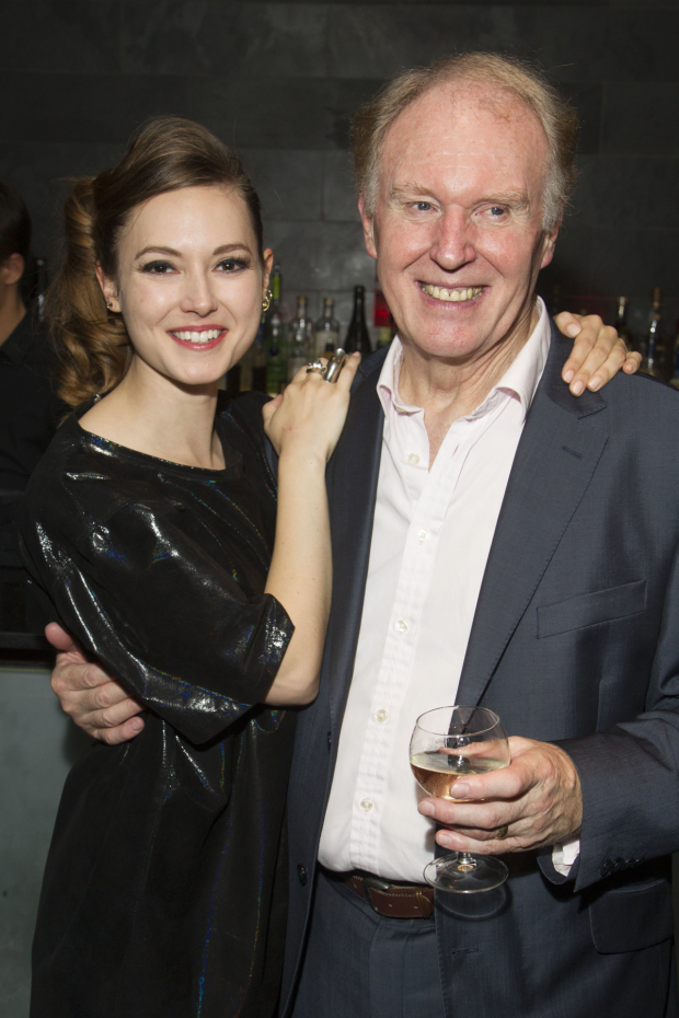 <p>Lydia Wilson and Tim Pigott-Smith on press night for the West End transfer of <em>King Charles III</em> in 2014</p><br />© Dan Wooller for WhatOnStage