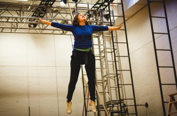 <p>Madeleine Worrall (Wendy)  in rehearsals for <em>Peter Pan</em></p><br />© Steve Tanner 2016