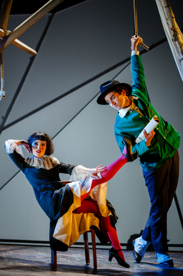 <p>Marc Antolin as Marc Chagall and Audrey Brisson as Bella Chagall in <em>The Flying Lovers of Vitebsk</em></p><br />(C) Steve Tanner