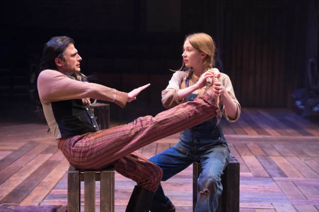<p>Marc Elliott and Emily Hughes as Julio and Jennifer</p><br />© Jonathan Keenan