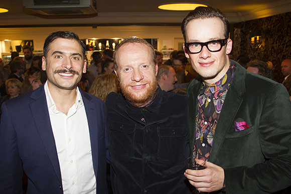 <p>Marc Elliott (Mr McQueen), Jonathan Slinger (Officer Lockstock) and Matthew Seadon-Young (Bobby Strong)</p><br />© Dan Wooller for WhatsOnStage